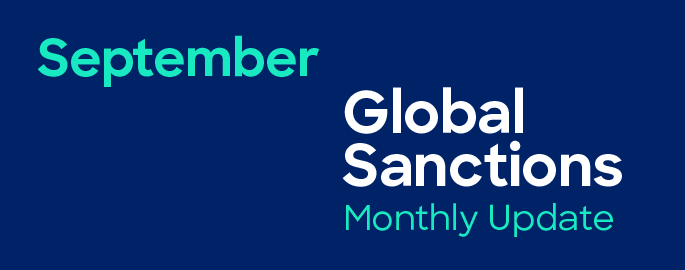 September Sanctions Compliance Update