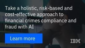 Take a holistic, risk-based and cost-effective approash to financial crimes compliance and fraud with AI