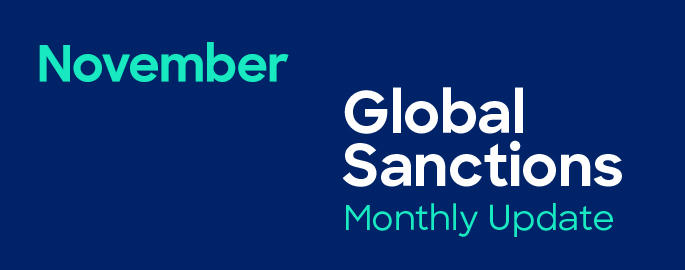 Global Sanctions Update November Banner