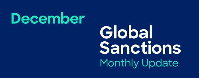 December Global Sanctions Monthly Update